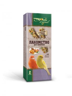 Лакомство Original для канареек с фруктами и мёдом (уп.2шт.). TRIOL. Цвет: желтый, зеленый