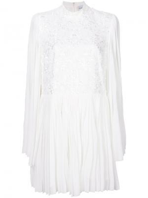 Платье мини с цветочной аппликацией Perseverance London. Цвет: белый