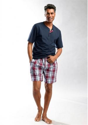 Пижама с шортами H.I.S.. Цвет: серый/зеленый, темно-синий/бордовый