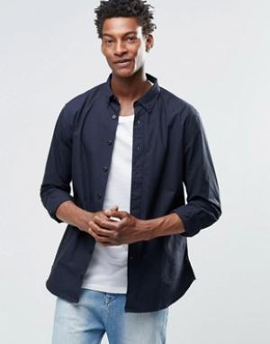 YMC Рубашка с воротником на пуговицах. Цвет: черный