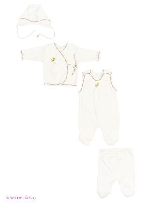 Комплект одежды Три ползунка. Цвет: молочный