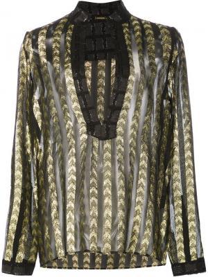 Полупрозрачная блузка с глубоким вырезом Dodo Bar Or. Цвет: чёрный