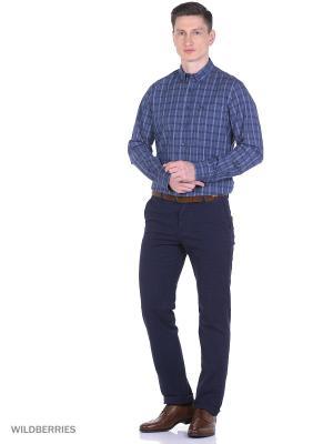 Рубашка Boston Brothers. Цвет: серый, зеленый, бирюзовый