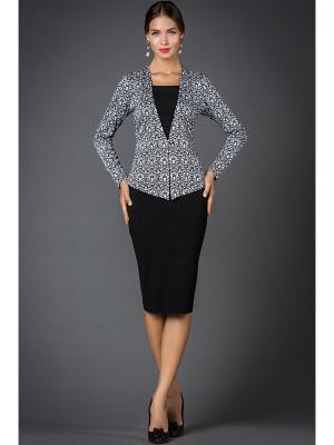 Платья Арт-Деко. Цвет: черный, серый