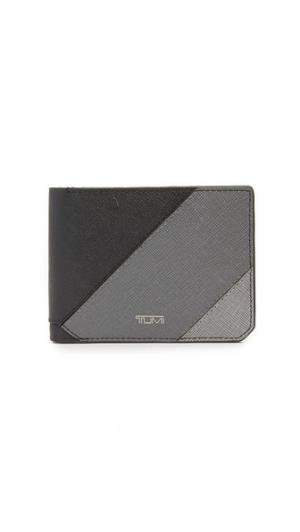 Марка Mason кожаные двойные бумажник Tumi