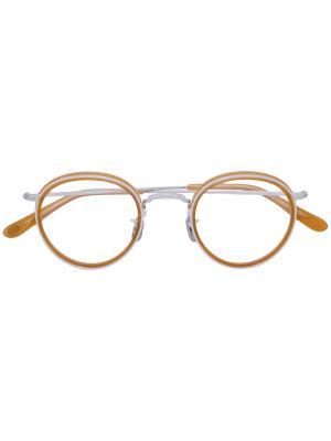 Очки в круглой оправе Eyevan7285. Цвет: жёлтый и оранжевый