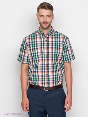 Рубашка Maestro. Цвет: зеленый, молочный, темно-синий