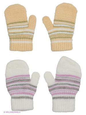 Варежки FOMAS. Цвет: белый, оливковый, сиреневый, светло-серый, бежевый