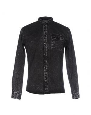 Джинсовая рубашка ANERKJENDT. Цвет: черный