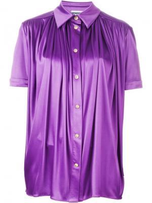 Рубашка со сборкой спереди Fausto Puglisi. Цвет: розовый и фиолетовый