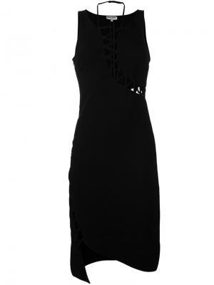 Платье без рукавов Opening Ceremony. Цвет: чёрный