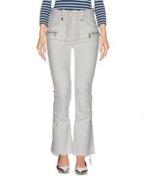 Джинсовые брюки BEN TAVERNITI™ UNRAVEL PROJECT. Цвет: слоновая кость