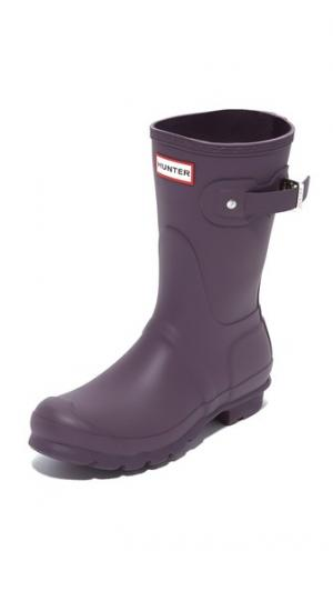 Оригинальные короткие сапоги Hunter Boots. Цвет: фиолетовый морской еж