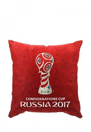 Подушка FIFA Confederations Cup Russia 2017. Цвет: красный