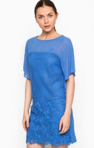Короткое синее платье Pinko. Цвет: синий