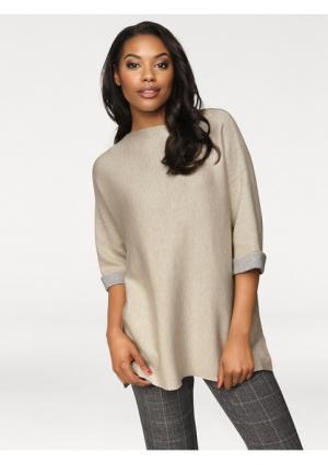 Пуловер PATRIZIA DINI. Цвет: песочный, серо-коричневый, черный