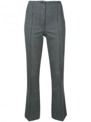 Классические брюки с завышенной талией Helmut Lang. Цвет: серый