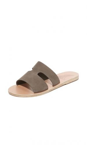 Сандалии без застежки Apteros Ancient Greek Sandals. Цвет: хаки