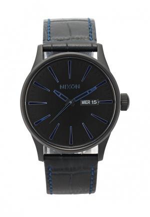 Часы Nixon. Цвет: синий