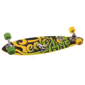 Скейт круизер  Swift Black/Green 8.6 x 34.5 (87.6 см) Sector 9. Цвет: желтый,зеленый