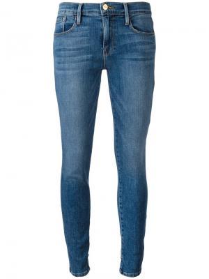 Прямые джинсы Frame Denim. Цвет: синий