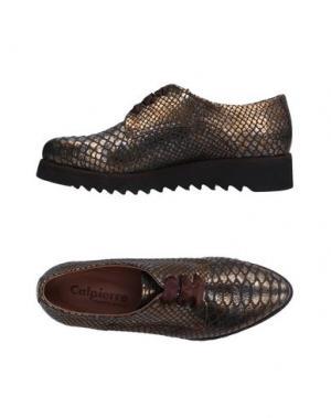Обувь на шнурках CALPIERRE. Цвет: платиновый