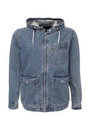 Куртка джинсовая Quiksilver. Цвет: голубой