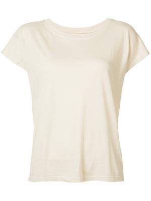 Классическая футболка Raquel Allegra. Цвет: телесный