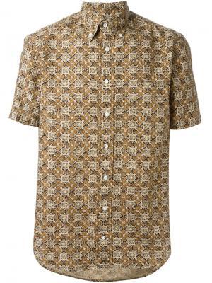 Рубашка с короткими рукавами Gitman Vintage. Цвет: коричневый