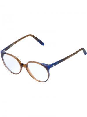 Двухцветные оптические очки Cutler & Gross. Цвет: синий