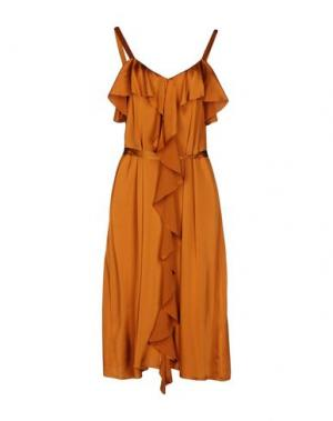 Платье до колена SUOLI. Цвет: ржаво-коричневый
