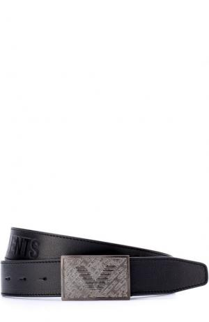 Кожаный ремень с металлической пряжкой и логотипом бренда Vetements. Цвет: черный