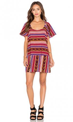 Платье tulum STELA 9. Цвет: красный
