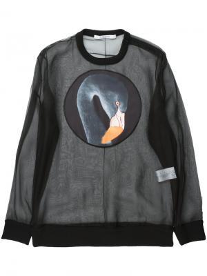 Прозрачная толстовка с принтом фламинго Givenchy. Цвет: чёрный