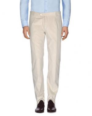 Повседневные брюки REVERES 1949. Цвет: слоновая кость