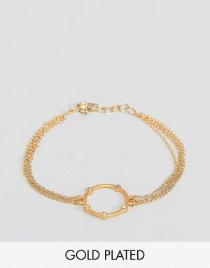 Dogeared Позолоченный браслет. Цвет: золотой