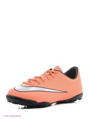 Шиповки JR MERCURIAL VICTORY V TF Nike. Цвет: оранжевый