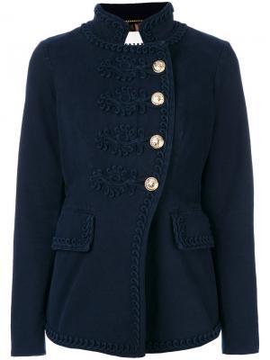 Куртка в стиле милитари Bazar Deluxe. Цвет: синий