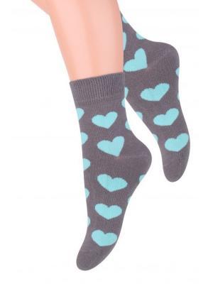 Комплект детских носков Steven, 32-34, светло-серый / мятный, серый, темно-серый Steven. Цвет: светло-зеленый, светло-серый, серый