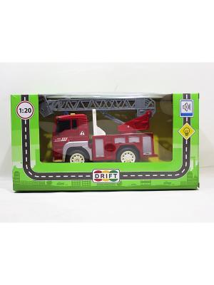 Машина грузовик с выдвижной лестницей Drift. Цвет: красный