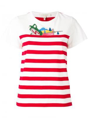 Полосатая футболка Julie Verhoeven Marc Jacobs. Цвет: белый
