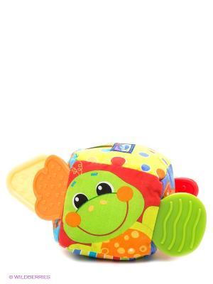 Мягкая игрушка Кубик Playgro. Цвет: желтый, темно-зеленый, голубой
