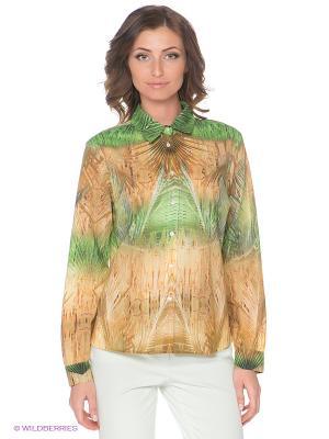 Блузка Elegance. Цвет: зеленый, бежевый