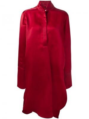 Платье из органзы Petar Petrov. Цвет: красный