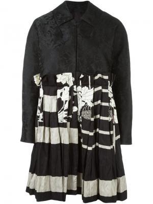 Лоскутное платье Antonio Marras. Цвет: чёрный