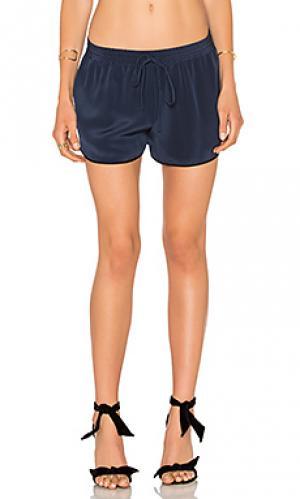 Шелковые шорты LAcademie L'Academie. Цвет: синий
