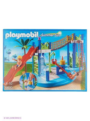 Аквапарк: Игровая площадка Playmobil. Цвет: красный, синий