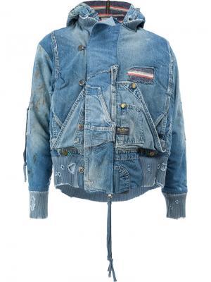 Летная куртка Snorkel Greg Lauren. Цвет: синий