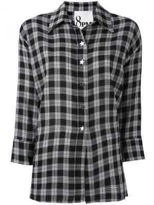 Рубашка в клетку 8pm. Цвет: чёрный