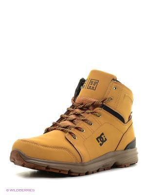 Ботинки DC Shoes. Цвет: горчичный